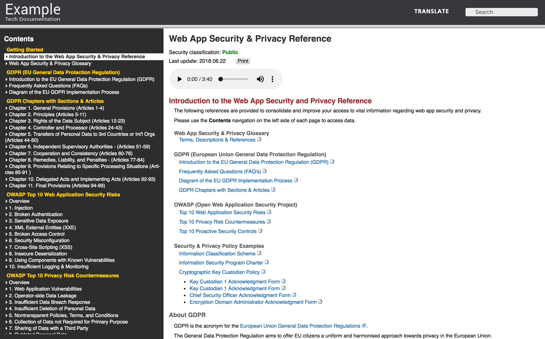 Web App Security Privacy Reference Devportal Awards Data Program