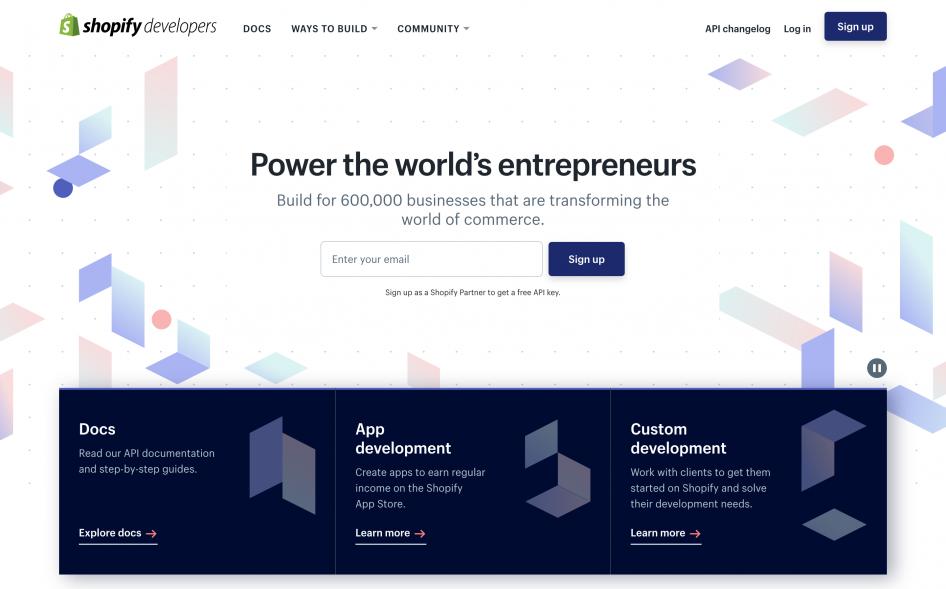 Shopify Developers (2018) | DevPortal Awards