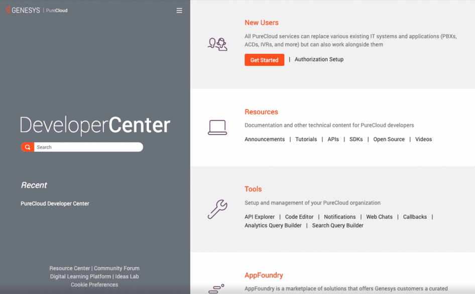 Genesys PureCloud Developer Center