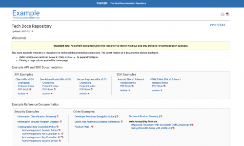 Example Technical Documentation Repository