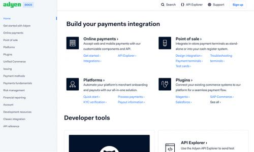 Adyen Documentation and API Explorer